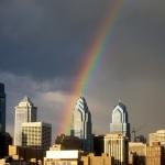 Philly Skyline rainbow