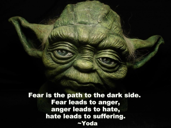Yoda's quote about fear